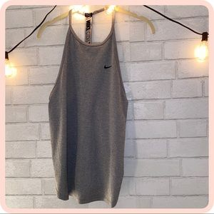 ♢ Grey Nike open back tank up ♢